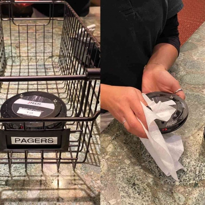 Sanitizing Pagers