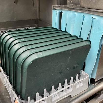 Heat Washed Sanitized Trays